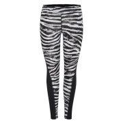 Only Play Zebra tight dames zwart/wit