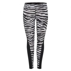 Only Play Zebra tight dames zwart/wit