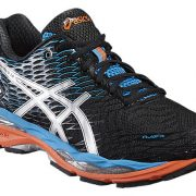 Asics Gel-Nimbus 18 hardloopschoenen heren zwart/zilver/blauw