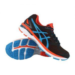 Asics GT-2000 4 hardloopschoenen heren zwart/blauw/oranje