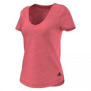 adidas Logo V shirt dames roze