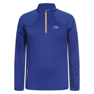 Li-Ning Justus hardloopsweater heren blauw/oranje