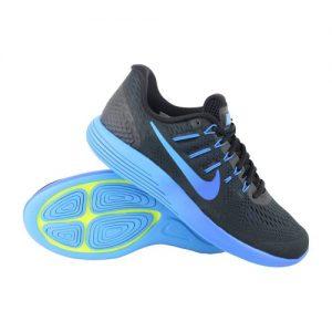Nike Lunarglide 8 hardloopschoenen heren zwart/blauw