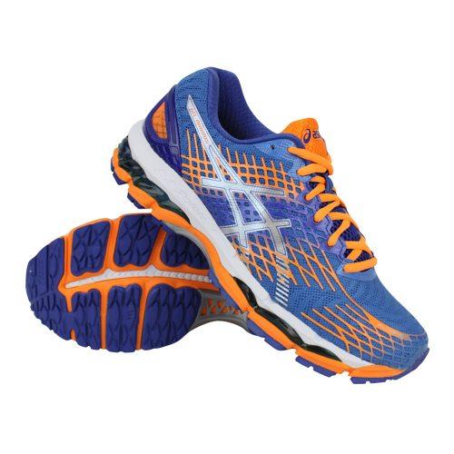 asics hardloopschoenen blauw oranje